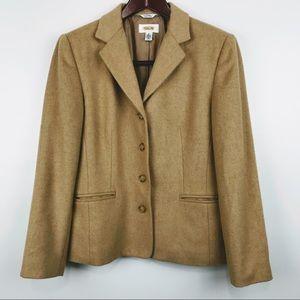 Talbots Camel Hair Blazer Jacket
